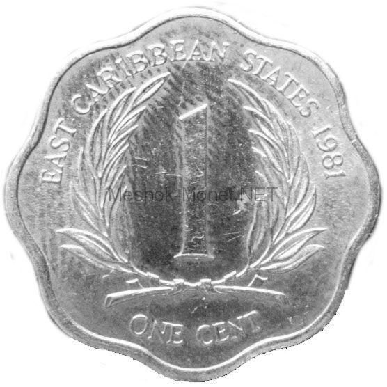 Карибы 1 цент 1986 г.