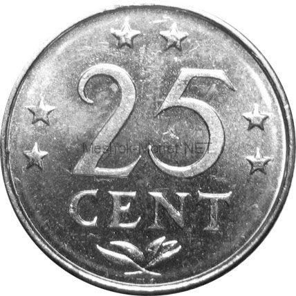 Антильские острова 25 центов 1980 г.
