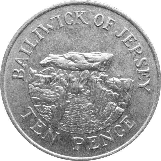 Остров Джерси 10 пенсов 1984 г.