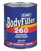 """HB Body Жидкая шпатлевка 260, название цвета """"Светло-желтый"""", объем 1л."""