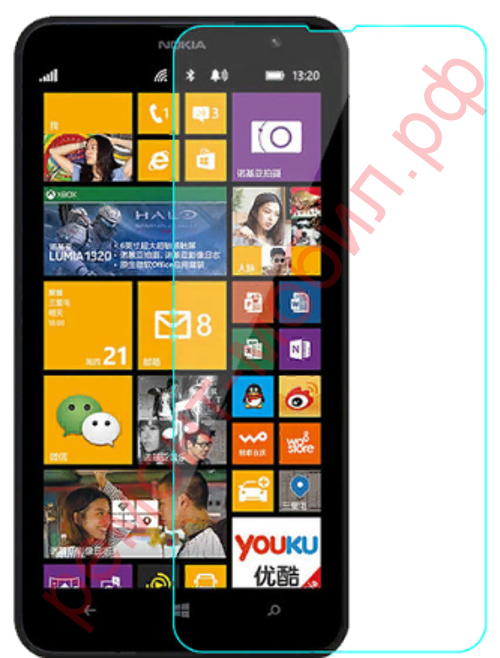 Защитное стекло для Nokia Lumia 1320