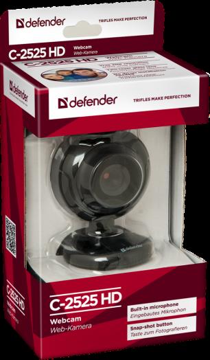 Web-камера Defender C-2525HD 2 МП, кнопка фото