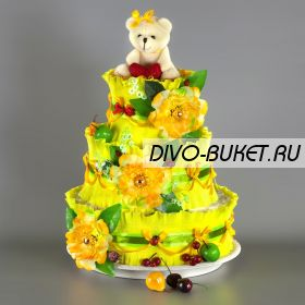 "Торт из памперсов №683 ""Олимп"""