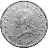Колумбия 5 сентаво 1886 г.