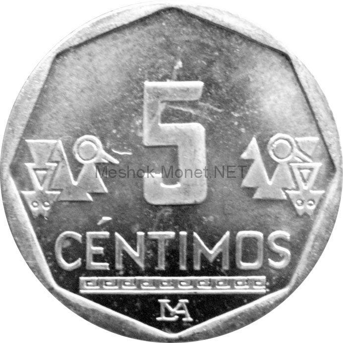 Перу 5 сентимо 2011 г.