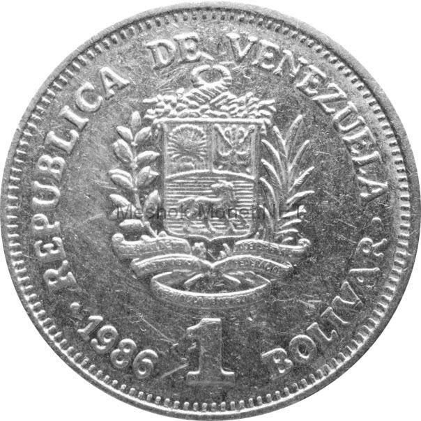 Венесуэла 1 боливар 1990 г.