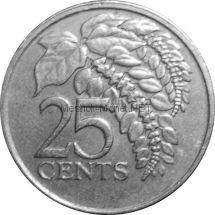 Тринидад и Тобаго 25 центов 1980 г.