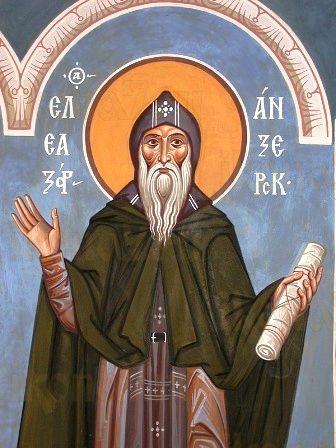 Елеазар Анзерский (рукописная икона)
