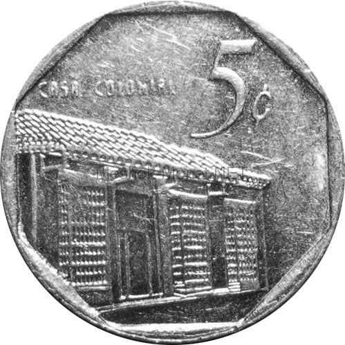Куба 5 сентаво 2002 г.