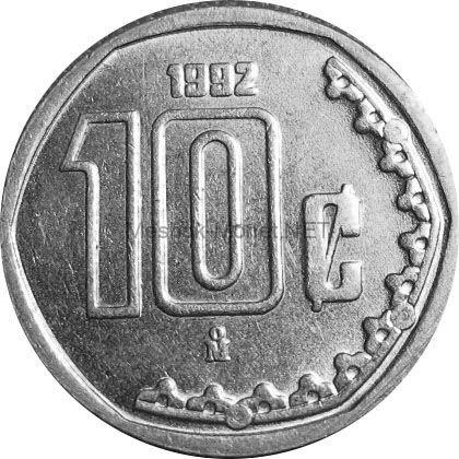 Мексика 10 сентаво 2000 г.