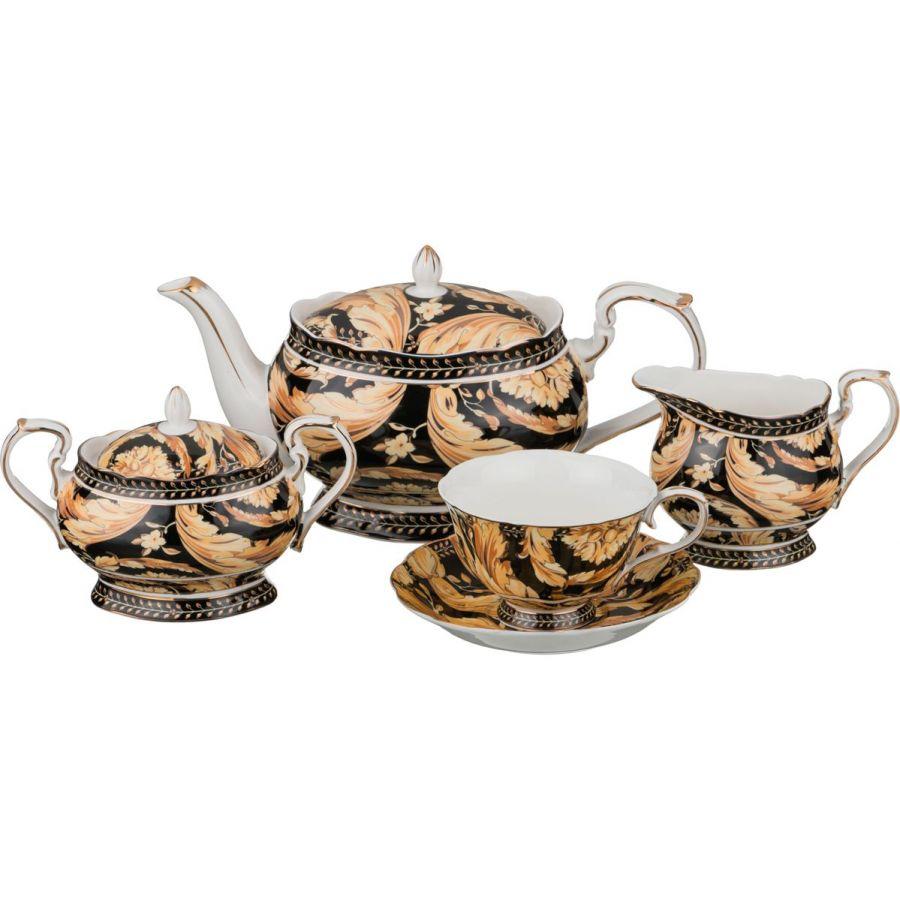 """Чайный сервиз на 6 персон """"Цветы"""", 15 пр. 1000/240/250/300 мл."""
