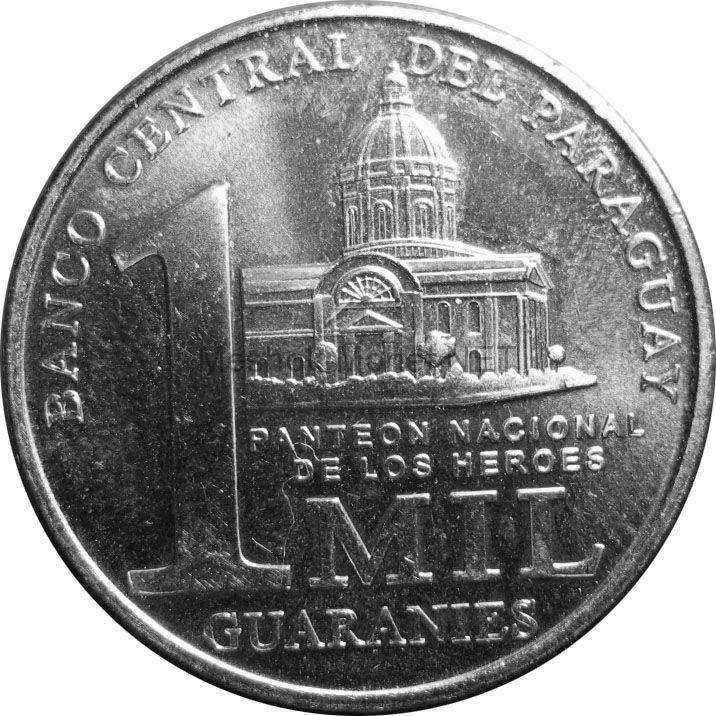 Парагвай 1000 гуарани 2008 г.