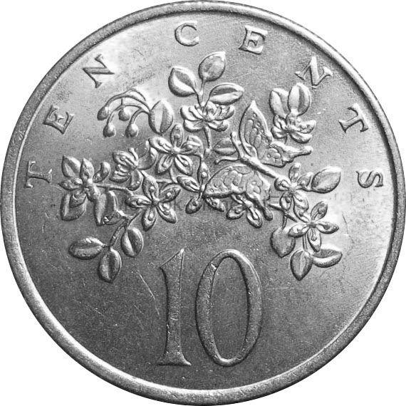 Ямайка 10 центов 1975 г.