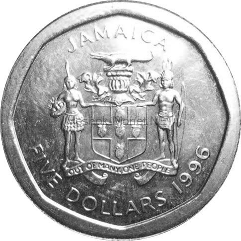 Ямайка 5 долларов 2017 г.