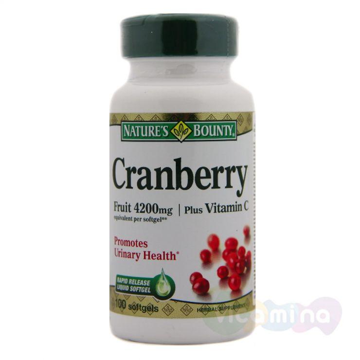 Нэйчес Баунти Концентрат ягод клюквы с витамином C, 100 капс.