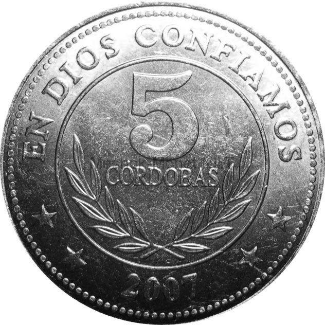 Никарагуа 5 кордоба 2014 г.