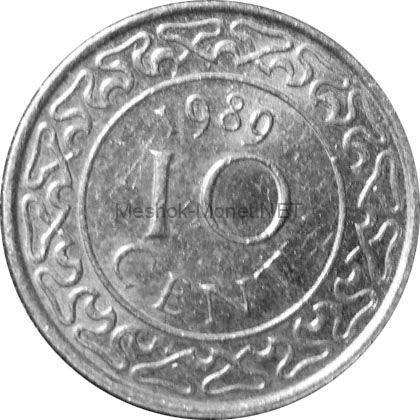 Суринам 10 цент 1989 г.