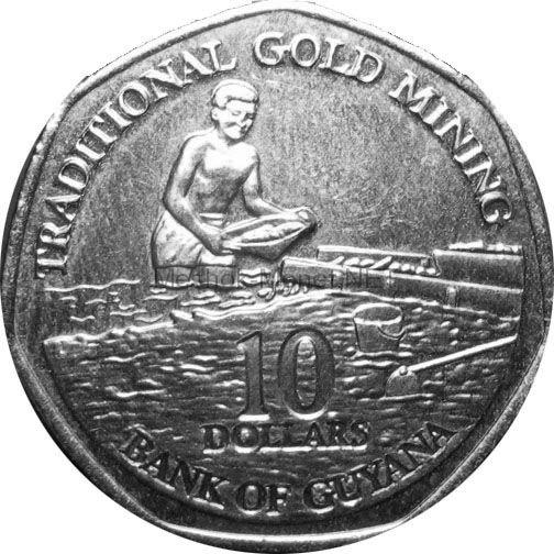 Гайана 10 долларов 2013 г.