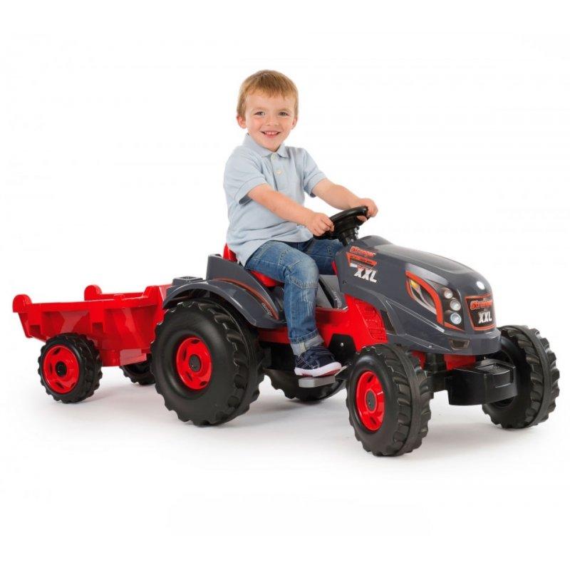 Педальный трактор Stronger XXL с прицепом Smoby 710200