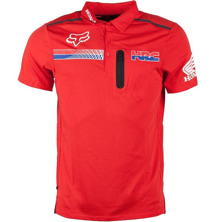 Fox - Pit HRC Tech SS Polo Flame Red футболка-поло, красная