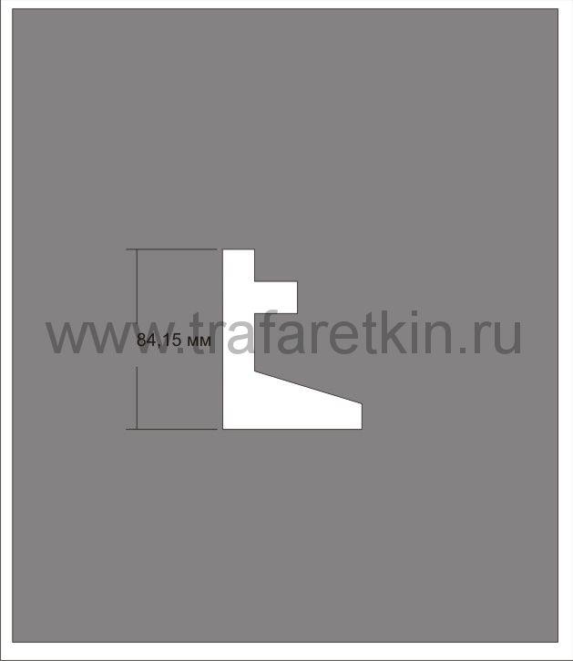 """Трафарет """"Знак -место для домкрата"""""""