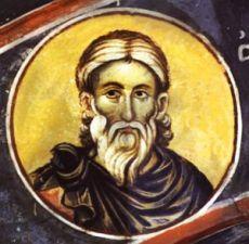 Авксентий Севастийский  (рукописная икона)