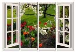 Окно в весенний сад