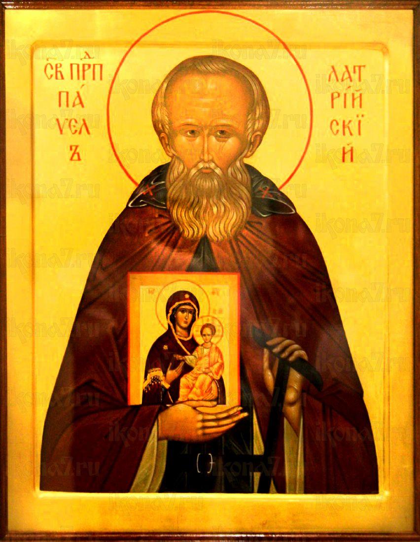 Павел Латрийский (рукописная икона)