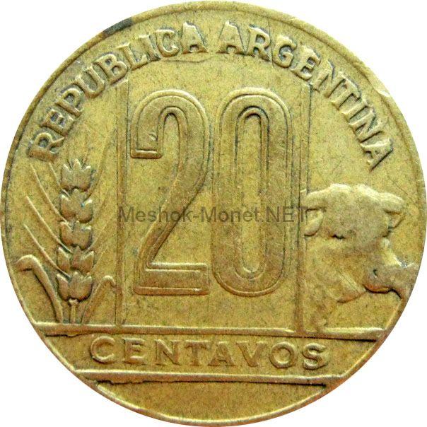 Аргентина 20 сентаво 1949 г.