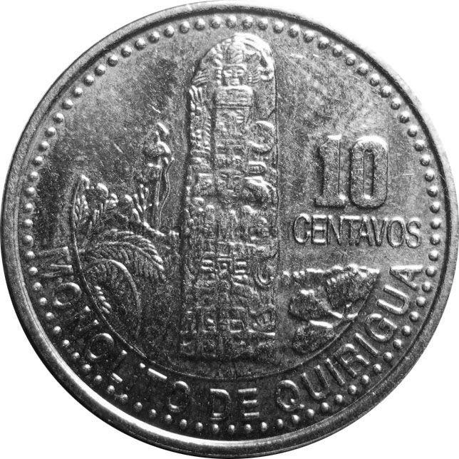 Гватемала 10 сентаво 2000 г.