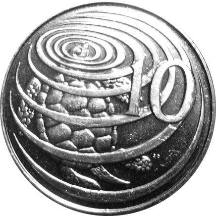 Каймановы острова 10 центов 2013 г.
