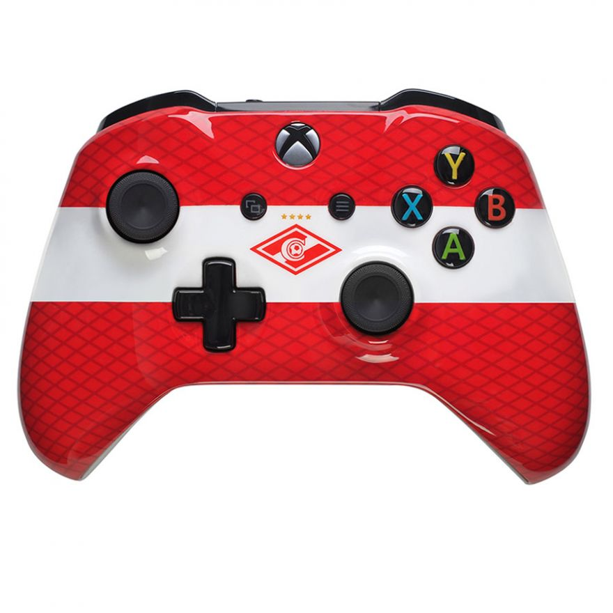"Кастомизированный Xbox One S Wireless Controller ""Красно-Белый"""