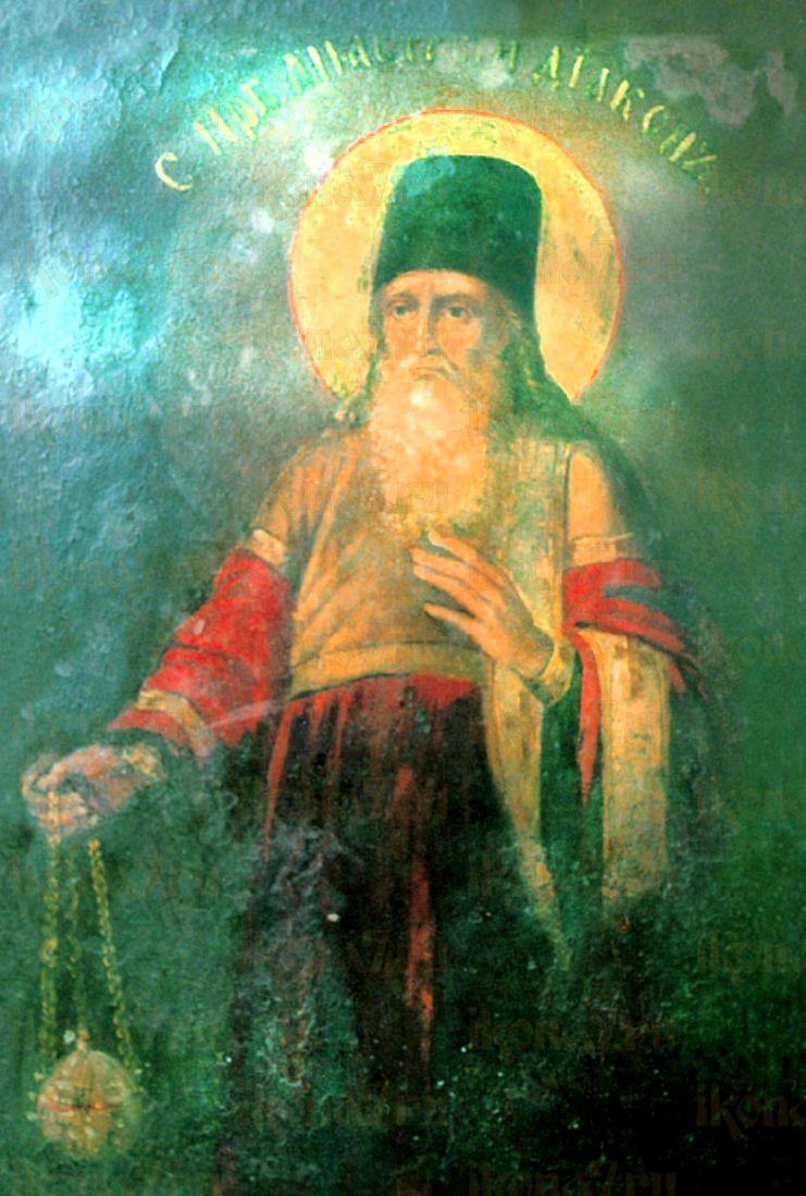 Анастасий Печерский  (рукописная икона)