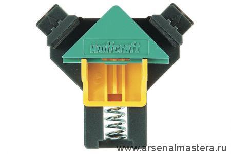 Угловой зажим (тиски) ES 22 для фиксации досок толщиной от 10 до 22 мм, 2 шт  Wolfcraft 3051000