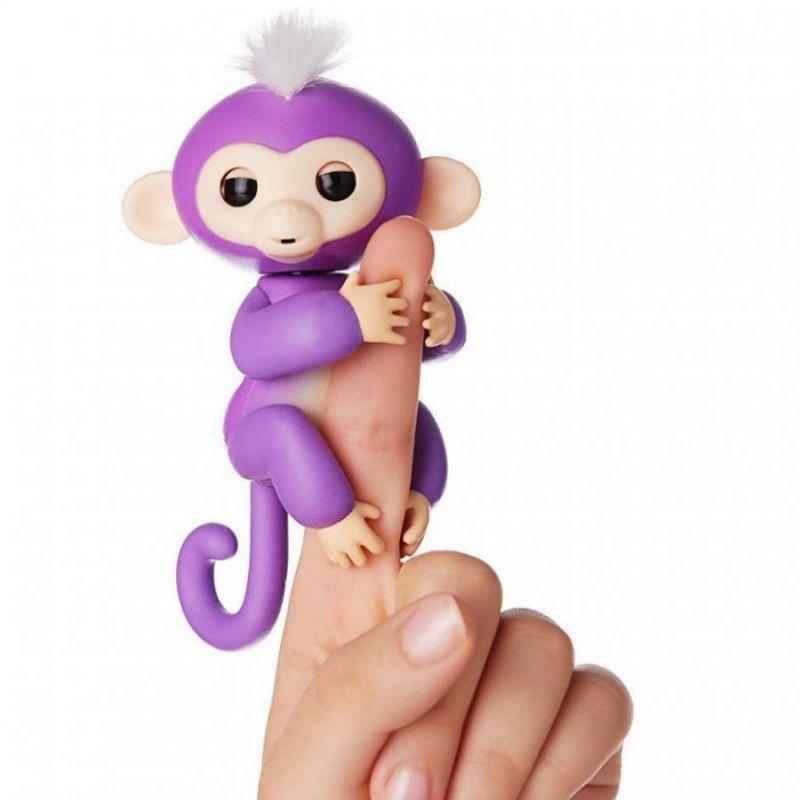 Интерактивная обезьянка BABY MONKEY, цвет фиолетовый