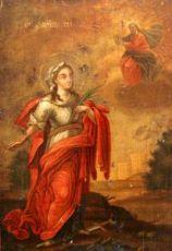 Икона Глафира Амасийская (копия старинной)