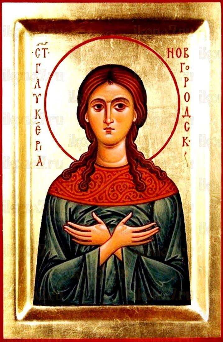 Гликерия Новгородская (икона на дереве)