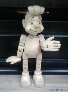 """Подарок игрушка """"Буратино"""" ручная фигурная резьба"""