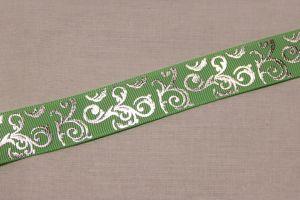 Лента репсовая с рисунком, ширина 22 мм, длина 10 метров цвет: мятный, Арт. ЛР5654-4