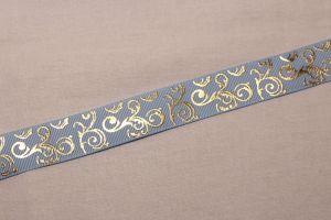 Лента репсовая с рисунком, ширина 22 мм, длина 10 метров цвет: светло-голубой, Арт. ЛР5655-9
