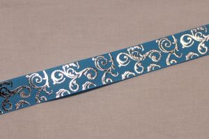`Лента репсовая с рисунком, ширина 22 мм, Арт. Р-ЛР5654-7