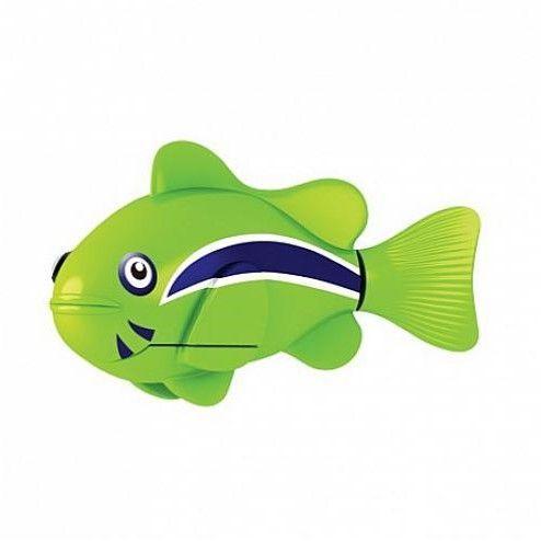 Роборыбка (Robo Fish) КЛОУН интерактивная игрушка, цвет зеленый