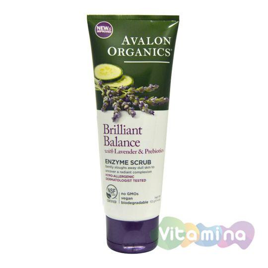 Avalon Organics Энзимный скраб для кожи лица с лавандой, 113 гр