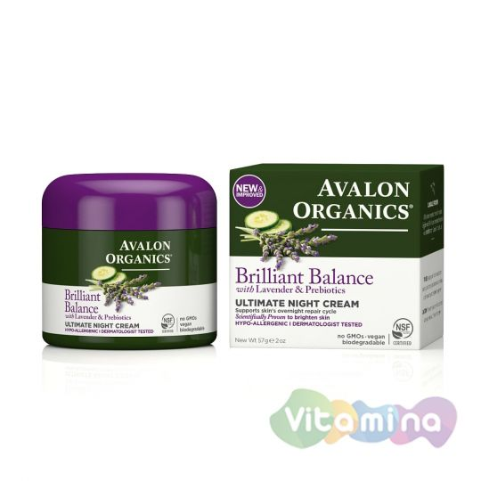 Avalon Organics Крем ночной с лавандой, 57 гр