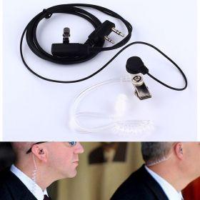 Гарнитура скрытого ношения с силиконовым воздуховодом для раций Kenwood и Baofeng 2-Pin