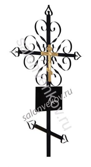 "Крест на могилу металл №2 ""Завитушка"""