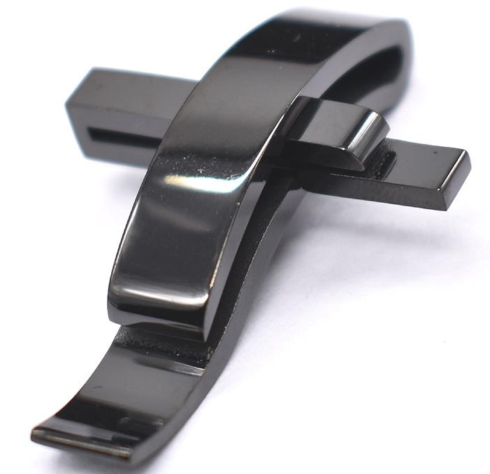 Крест креативный черный