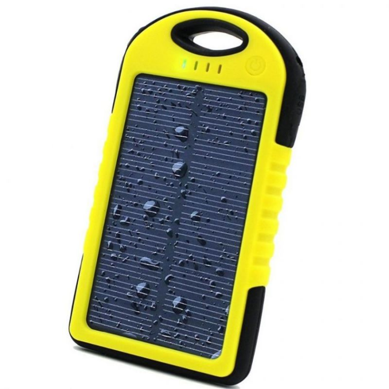 Power Bank с солнечной батареей, 5000 мАч, желтый