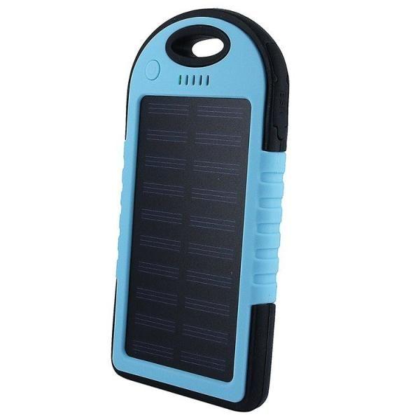 Power Bank с солнечной батареей, 5000 мАч, синий