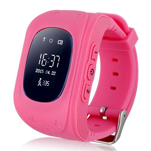 Умные Детские Часы С GPS Smart Baby Watch Q50, Цвет Розовый